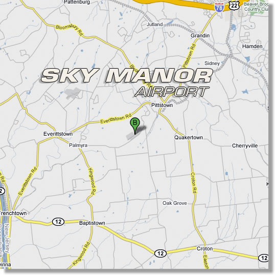 Location and Directions to Sky Manor Airport in Pittstown, NJ